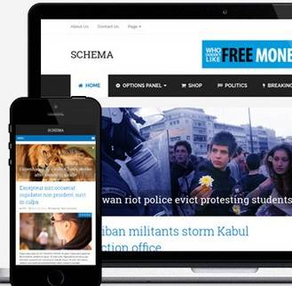 Responsive Blogging Theme - Schema SEO Theme