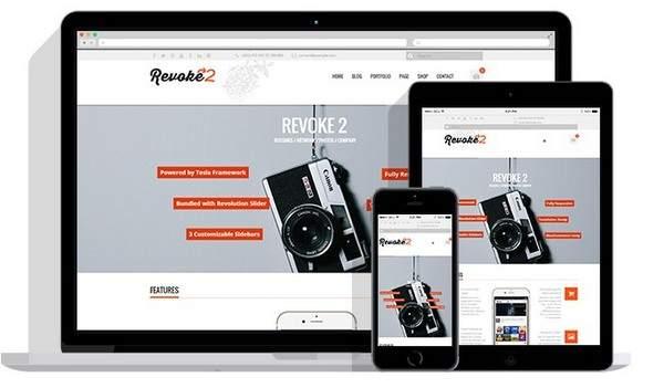 Revoke2 Review TeslaThemes Business WordPress Theme