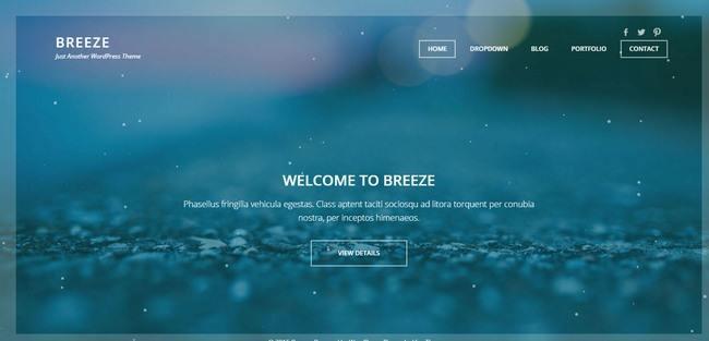 Viva Themes Breeze Demo : Portfolio WordPress Theme