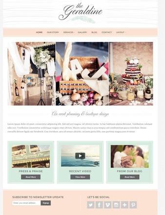 Bluchic – Geraldine WordPress Theme Review