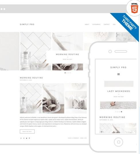 Simply Pro Demo - Responsive Blogigng Theme by Bloom Blog Shop