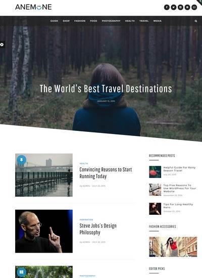 Anemone DesignOrbital : WordPress Magazine Theme