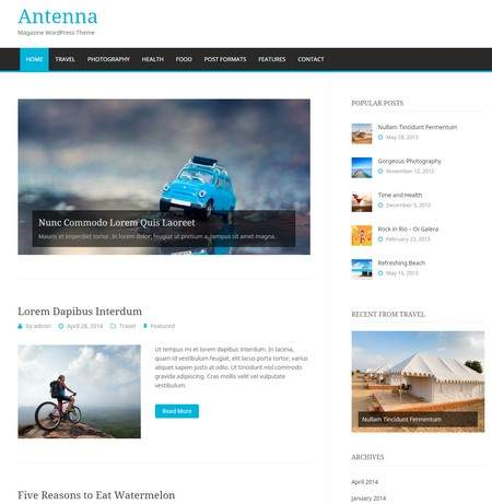 Antenna – Magazine WordPress Theme – DesignOrbital