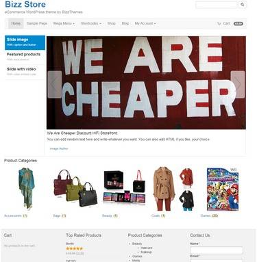 Bizz Store Review - eCommerce WordPress theme by BizzThemes
