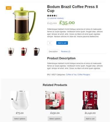 Bodum Brazil Coffee Press 8 Cup Simple Store
