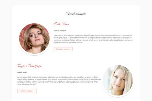 BrideMainds Page Template