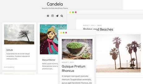 Candela Portfolio WordPress Theme – DesignOrbital