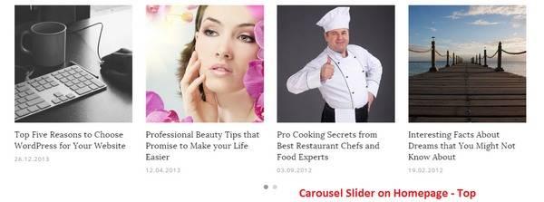 Carousel Post Slider - Dicot Magazine Theme