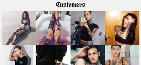 Customers Listings - Premium Tattoo template