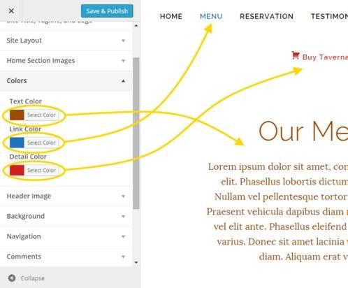 Customization Settings – BizzThemes Live customizer