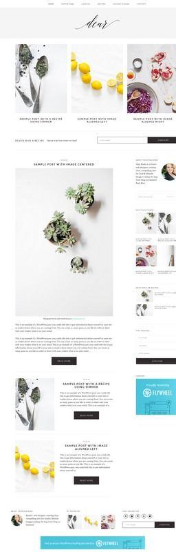 Dear Homepage Demo - shaybocks StudioPress
