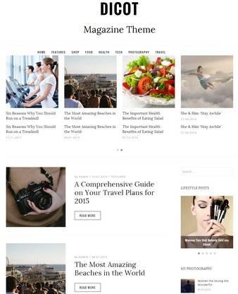 Dicot DesignOrbital : Magazine WordPress Theme
