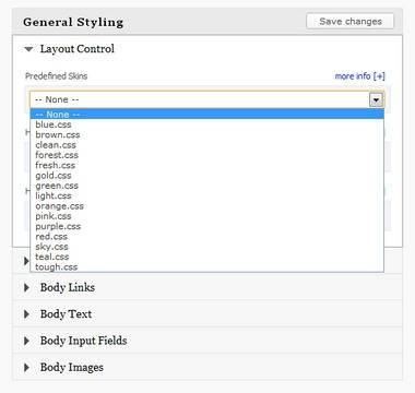 General Styling Options - Tanjun BizzThemes