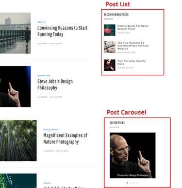 Post List and Post Carousel widget anemone Magazine Theme