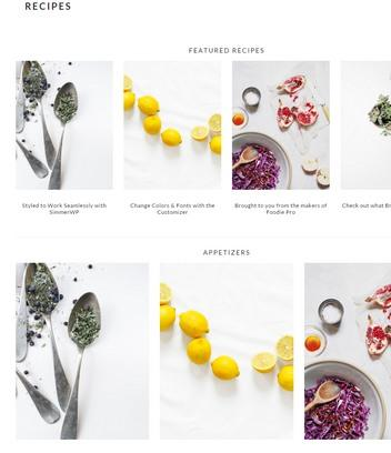Recipes Featured Page - Brunch Pro Genesis Theme StudioPress