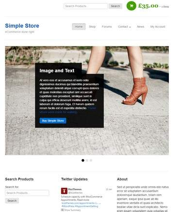 Simple Store Demo - eCommerce WordPress theme for online stores and shops