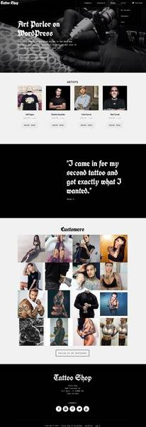 Tattoo Shop Demo – Responsive Tattoo WordPress Theme