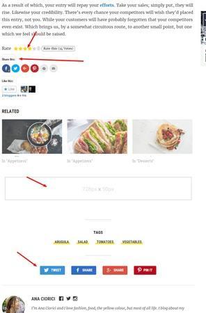 Below Post Features - Foodica WPZOOM