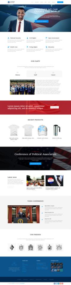 Coup WordPress Theme Demo - TeslaThemes