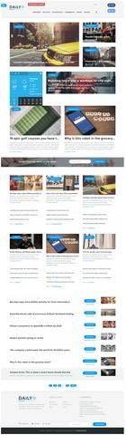 Daily Post Demo -TeslaThemes WordPress Blog news Theme