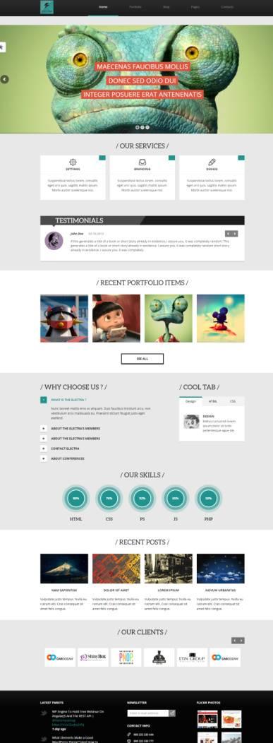 Electra Demo - TeslaThemes - Multipurpose WordPress Theme