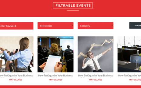 Filterable Events - TeslaThemes Event Template