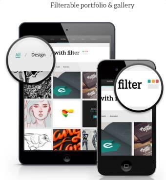 Filterable Portfolio Gallery - Electra TeslaThemes