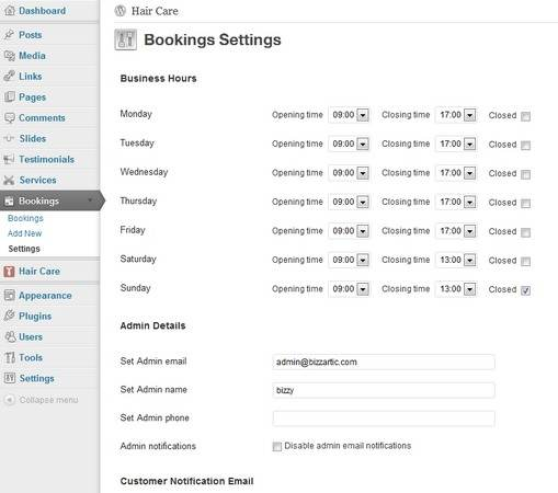 Full Booking System for Online Appointments - Hair Care Theme BizzThemes