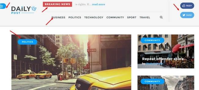 Header - Breaking news bar - TeslaThemes Daily Post Demo