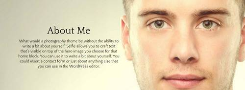 Homepage Block - Selfie for Photographers