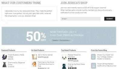 Homepage Widget Section - Jessica ECommerce Theme