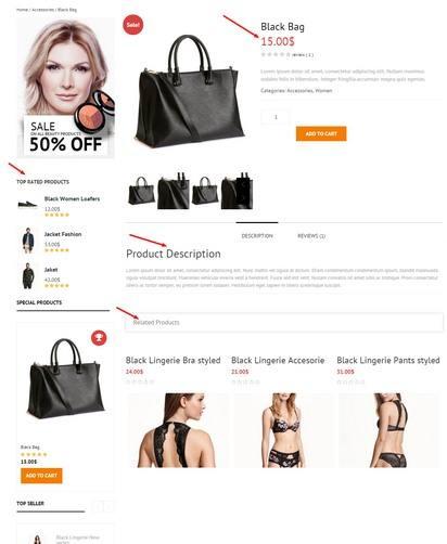 Product Page – Bishop Sidebar Widgets