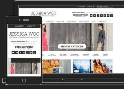 Responsive E Commerce Theme - Jessica by Web Savvy Marketing