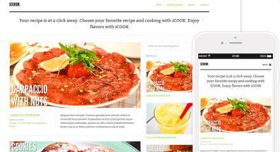 Responsive blogging theme for WordPress - iCook