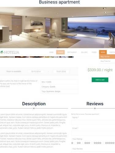 Rooms Listing Demo - Hotelia TeslaThemes