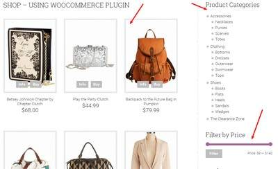 Shop Page - Products Listing and Filter widget