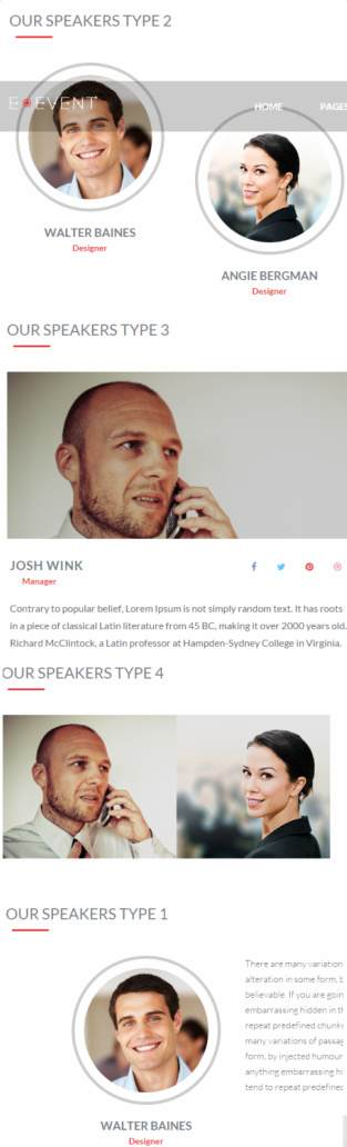 Speakers – E Event Conference theme