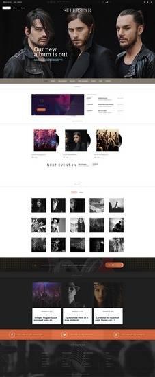 Superstar – Music Band WP Theme by TeslaThemes