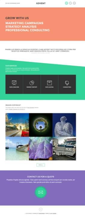 Advent Review - Viva Themes - business portfolio theme
