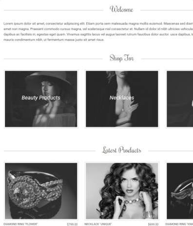 Amaryllis Featured Sections on Homepage