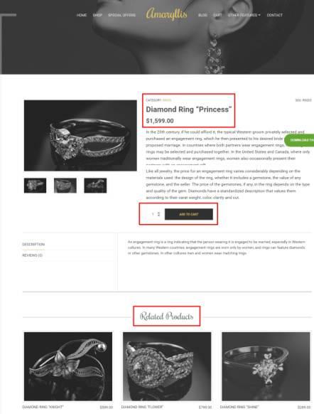 Amaryllis - Product Page