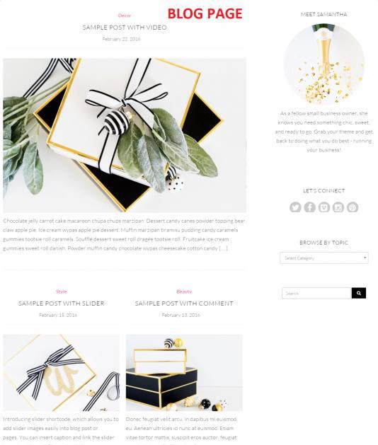 Blog – Samantha Theme