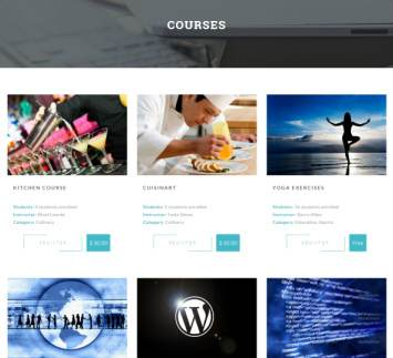 Courses Page - Level Up Theme