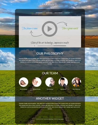 Viva Themes Ecolife : Green WordPress Theme