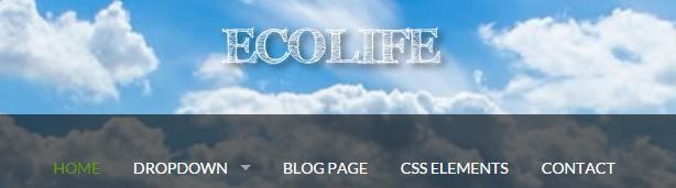 Header Logo and Navigation Menu - EcoLife theme for NGO and Non Profit Organizations