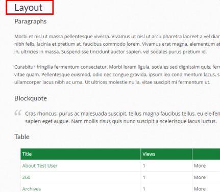 Layout Options - Alula WordPress Theme