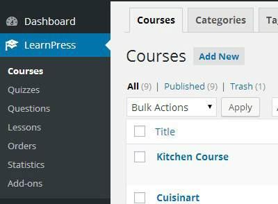 LearnPress Plugin - Add New Course