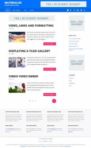 Materialize Theme Review - RichWP
