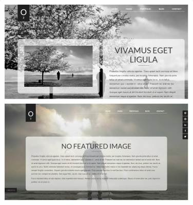 O2 Viva Themes - Pages with featured image