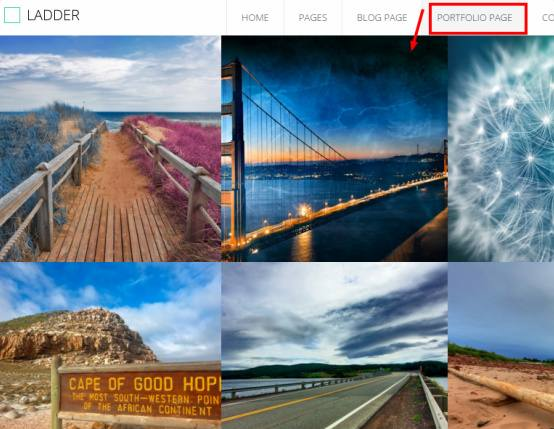 Portfolio Page Ladder